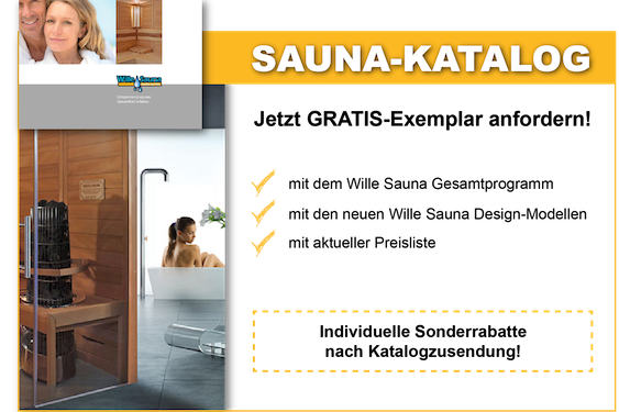 sauna katalog gratis anfordern. Black Bedroom Furniture Sets. Home Design Ideas