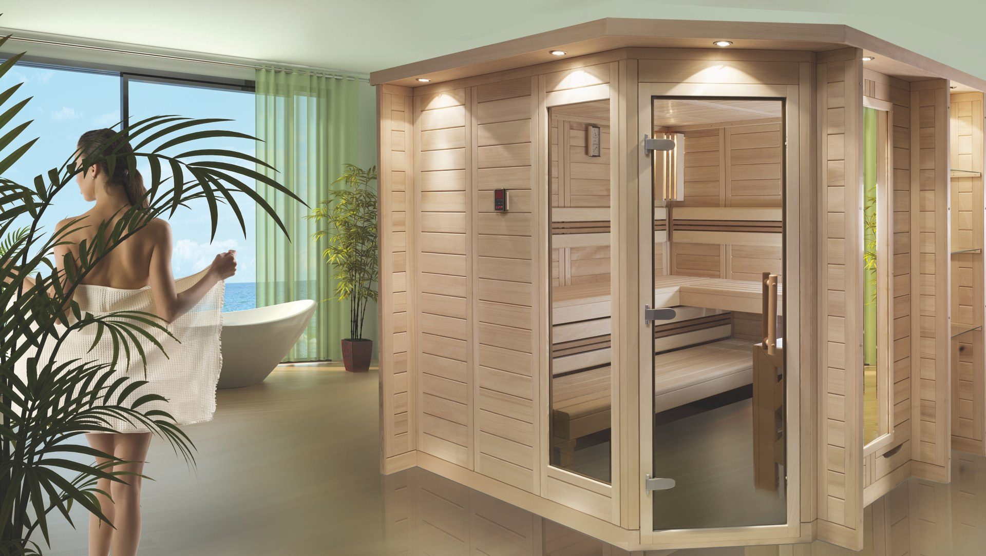 merano massivholzsauna wille sauna. Black Bedroom Furniture Sets. Home Design Ideas