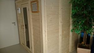 Sauna selbst aufgebaut vom Kunden (Kundenfoto)