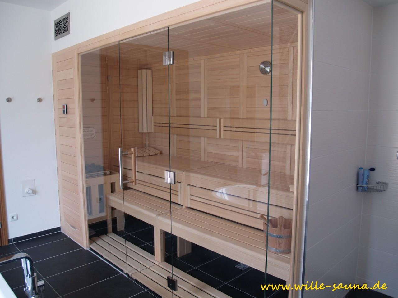 Sauna Glasfront Variante von Wille- deutsche Qualität zum günstigen Preis